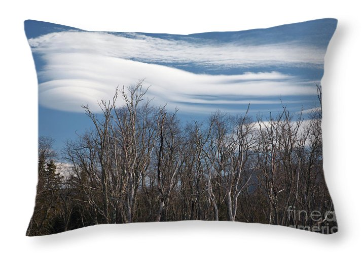 White Mountain National Forest Throw Pillow featuring the photograph Lenticular Clouds - White Mountains New Hampshire by Erin Paul Donovan