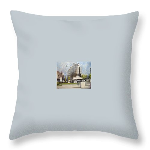 Leon Throw Pillow featuring the painting Leon by Tomas Castano
