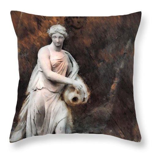 Leonor Throw Pillow featuring the photograph Leonor - Textured Version by Daniel Arrhakis
