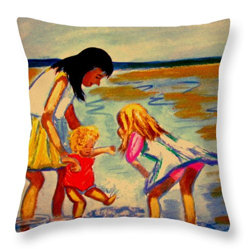 France Throw Pillow featuring the painting Les Mares by Rusty Gladdish