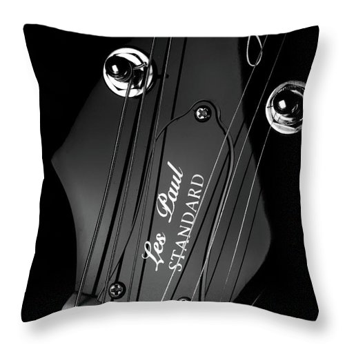 Les Paul Throw Pillow featuring the photograph Les Paul by Kevin Cable