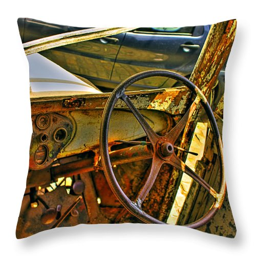 Cars Throw Pillow featuring the photograph Let Drive by Francisco Colon