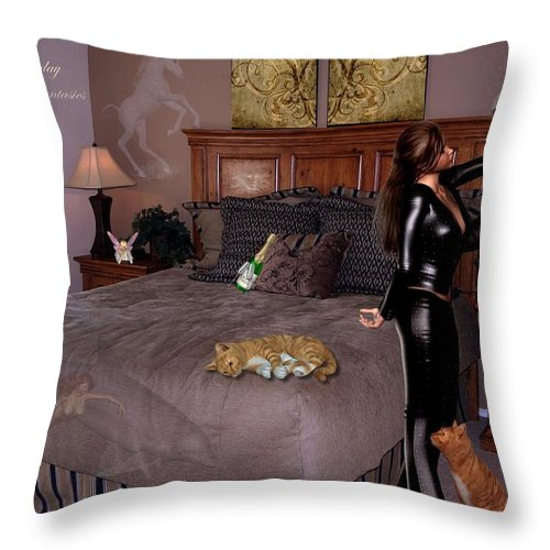Composition Throw Pillow featuring the photograph Let Everyday Bring Your Fantasies To Life by RiaL Treasures