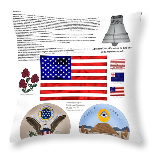Patriotic Throw Pillow featuring the painting Let Freedom Ring by Anne Norskog