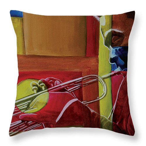 Black Art Throw Pillow featuring the painting Let Me Play by Stacy V McClain