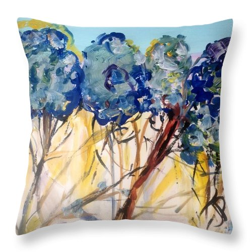 Nature Throw Pillow featuring the painting Let Me Wander In Nature by Judith Desrosiers