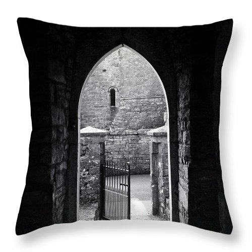 Irish Throw Pillow featuring the photograph Let There Be Light Cong Church And Abbey Cong Ireland by Teresa Mucha
