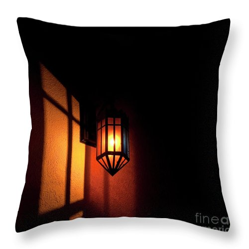 Festblues Throw Pillow featuring the photograph Let There Be Light.. by Nina Stavlund