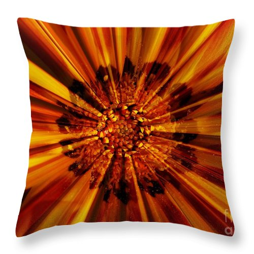 Nature Abstract Throw Pillow featuring the photograph Let Your Light Shine by Carol Groenen