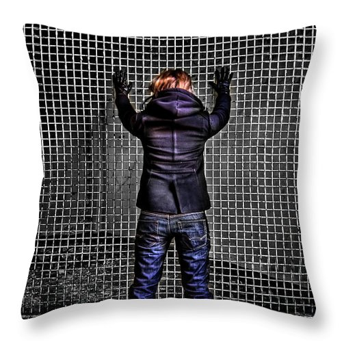 Abandoned Throw Pillow featuring the photograph Let Your Wall Fall Down by Evelina Kremsdorf