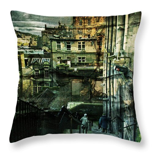 Architecture Throw Pillow featuring the photograph Lets Go Down Together by Dorit Fuhg