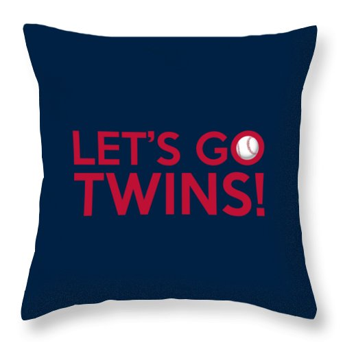 Minnesota Twins Throw Pillow featuring the painting Let's Go Twins by Florian Rodarte