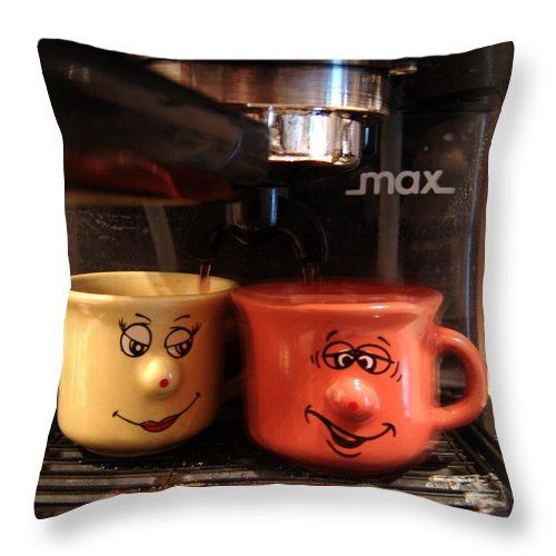 Coffe Throw Pillow featuring the photograph Let's Have A Coffee by Alessandro Della Pietra