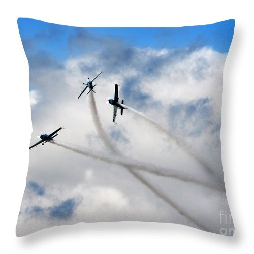Blades Extra 300 Throw Pillow featuring the photograph Let's Play In The Clouds by Angel Ciesniarska
