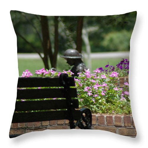 Garden Throw Pillow featuring the photograph Lets Rest by Donna Bentley
