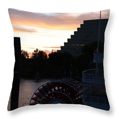 Sunsets Throw Pillow featuring the photograph Let's Take A Ride by Remegio Dalisay