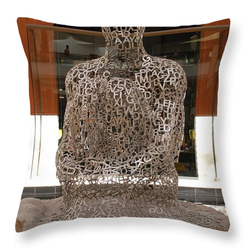 Scultures Throw Pillow featuring the photograph Letter Man In Color by Rob Hans