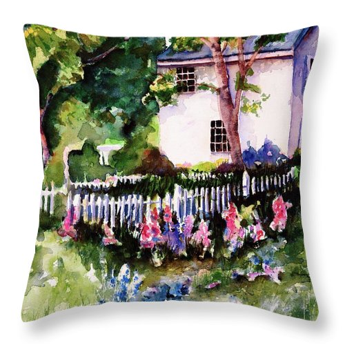 Ireland Throw Pillow featuring the painting Letterfrack Ireland by Marti Green