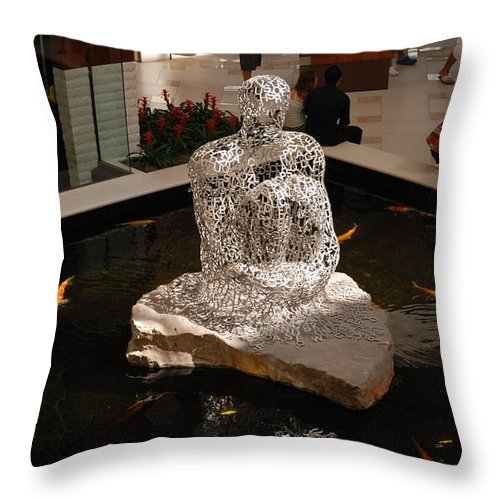 Letters Throw Pillow featuring the photograph Letterman By Coy by Rob Hans