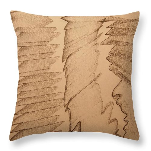 Abstract Throw Pillow featuring the drawing Levels by David Barnicoat