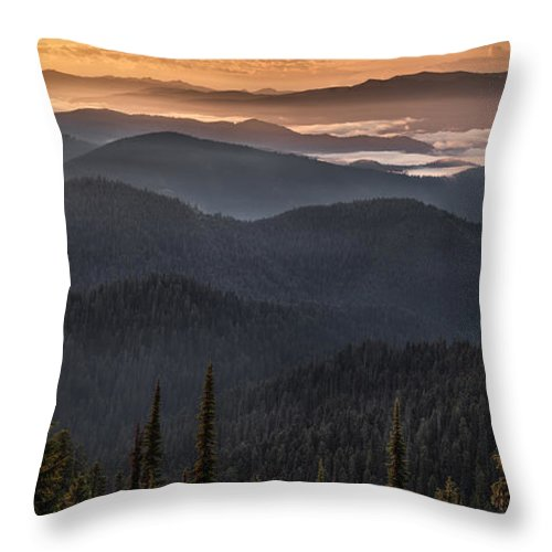 Idaho Scenics Throw Pillow featuring the photograph Lewis And Clark Route 2 by Leland D Howard