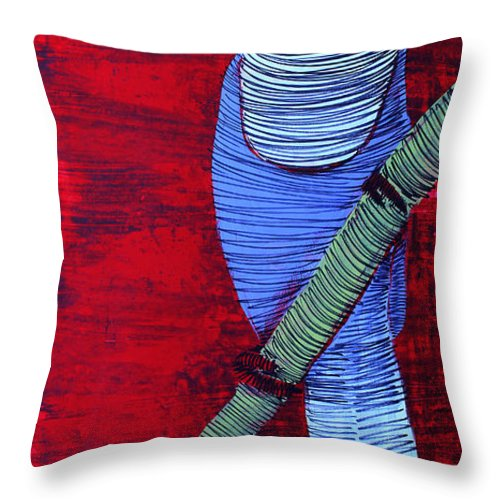 Flying Bird Throw Pillow featuring the painting Lib-709 by Artist Singh