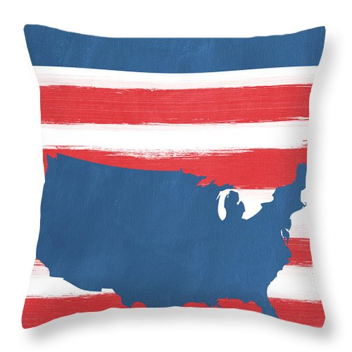 Liberty Throw Pillow featuring the painting Liberty by Linda Woods