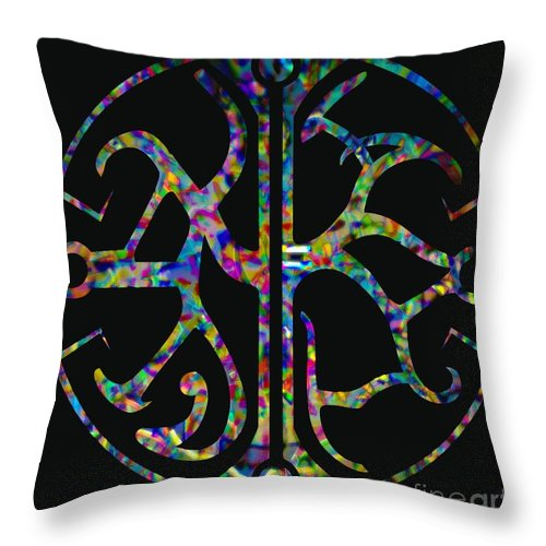Libra Throw Pillow featuring the painting Libra II by Wbk