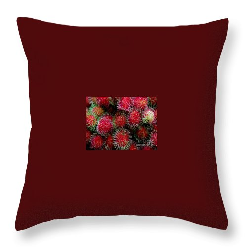 Lichee Throw Pillow featuring the photograph Lichee by Dragica Micki Fortuna
