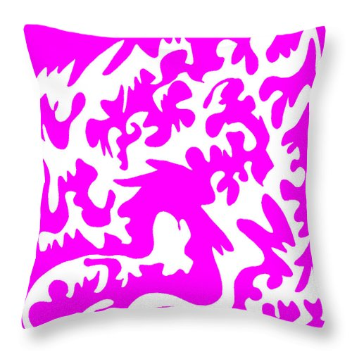 Square Throw Pillow featuring the digital art Lickety Split by Eikoni Images