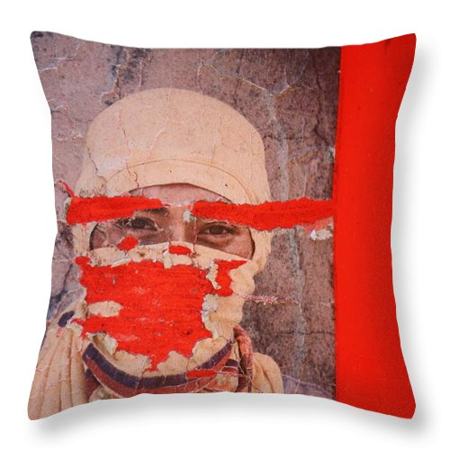 Street Photography Throw Pillow featuring the photograph Lied Tried N Died by The Artist Project