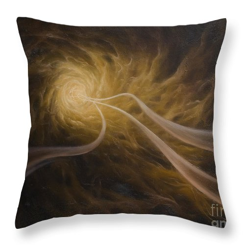 Abstract Throw Pillow featuring the painting Life After Death by Arthur Braginsky