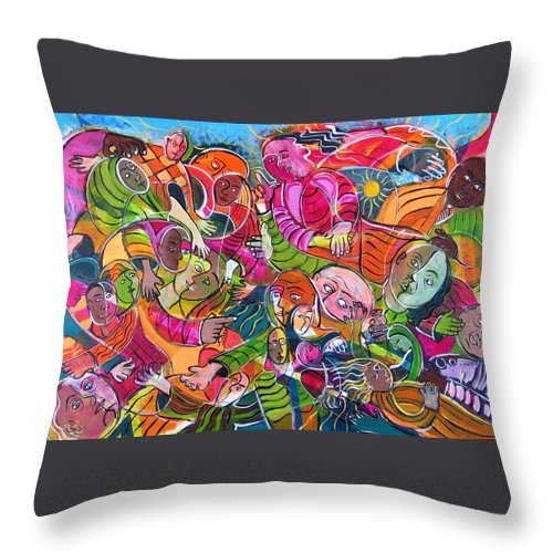 Life Throw Pillow featuring the painting Life And Death by Rollin Kocsis