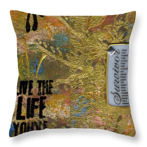 Understanding Throw Pillow featuring the mixed media Life As You Imagined It by Angela L Walker