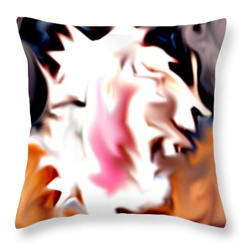 Digital Throw Pillow featuring the digital art Life by Crystal Webb
