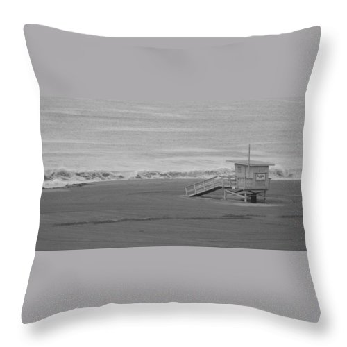 Beaches Throw Pillow featuring the photograph Life Guard Stand by Shari Chavira