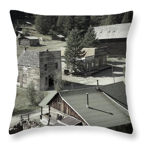 Ghost Towns Throw Pillow featuring the photograph Life In A Ghost Town by Richard Rizzo
