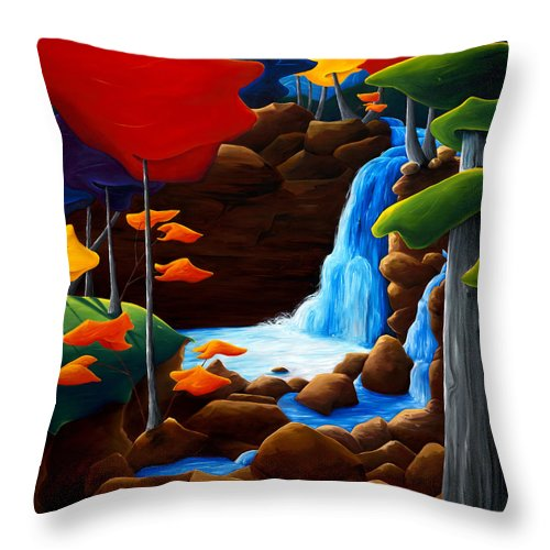 Landscape Throw Pillow featuring the painting Life In Progress by Richard Hoedl