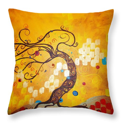Throw Pillow featuring the painting Life Is A Ball by Stefan Duncan