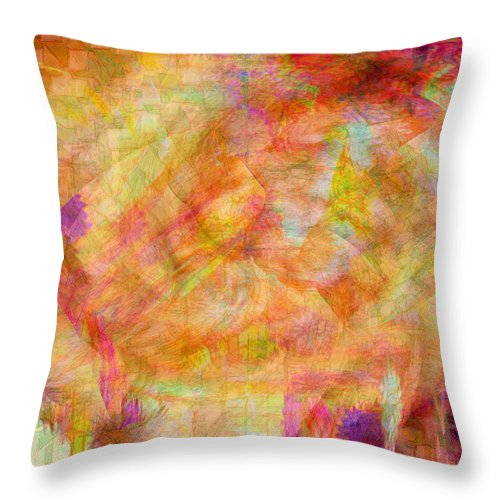 Abstracts Throw Pillow featuring the digital art Life by Linda Sannuti