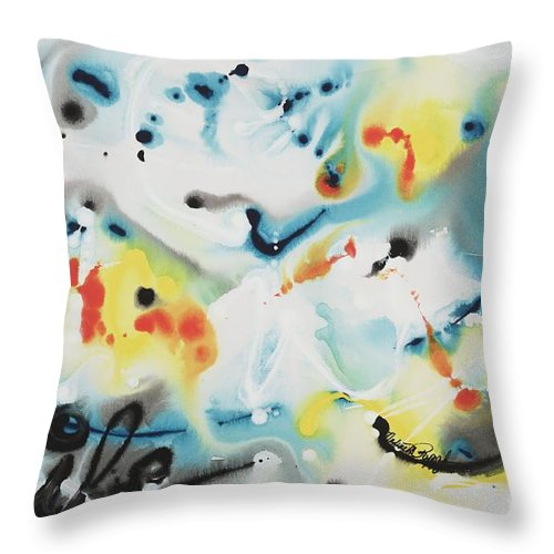 Life Throw Pillow featuring the painting Life by Nadine Rippelmeyer