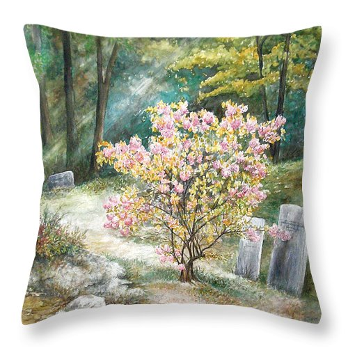 Landscape Throw Pillow featuring the painting Life by Valerie Meotti