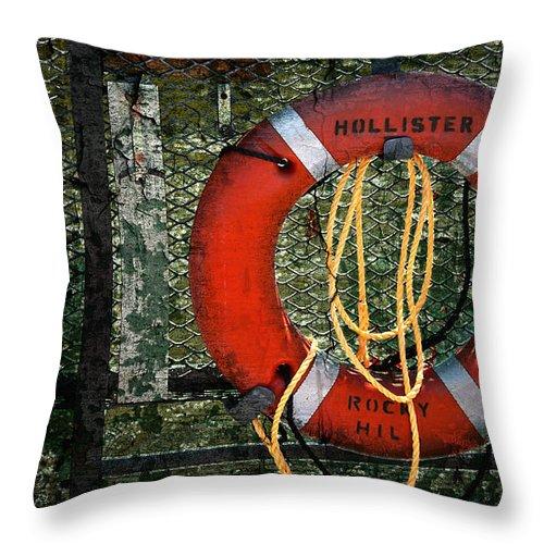 Lifesaver Throw Pillow featuring the photograph Lifesaver by Evelina Kremsdorf