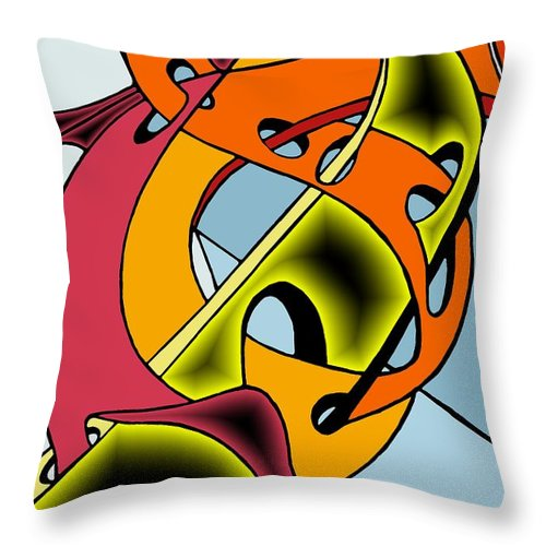 Lifeways Throw Pillow featuring the digital art Lifeways by Helmut Rottler