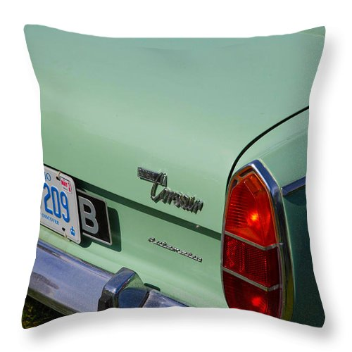 Throw Pillow featuring the photograph Light Blue Car by Timoke Brown