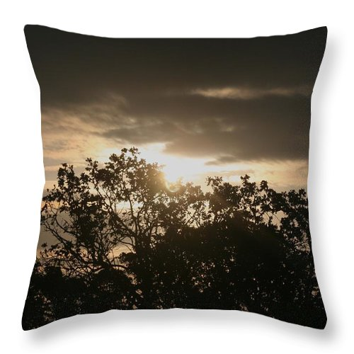 Light Throw Pillow featuring the photograph Light Chasing Away The Darkness by Nadine Rippelmeyer