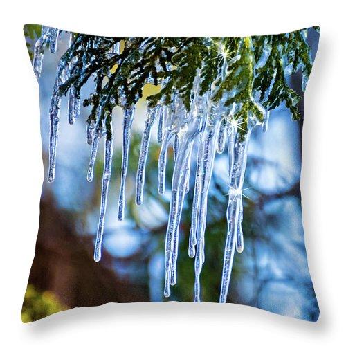 Steve Harrington Throw Pillow featuring the photograph Light Chimes 4 by Steve Harrington