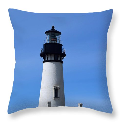 Light House Throw Pillow featuring the photograph Light House by Alea Photography