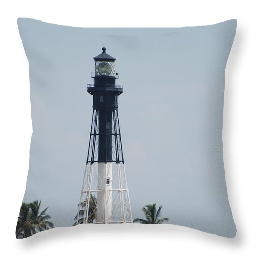 Landscape Throw Pillow featuring the photograph Light House by Rob Hans