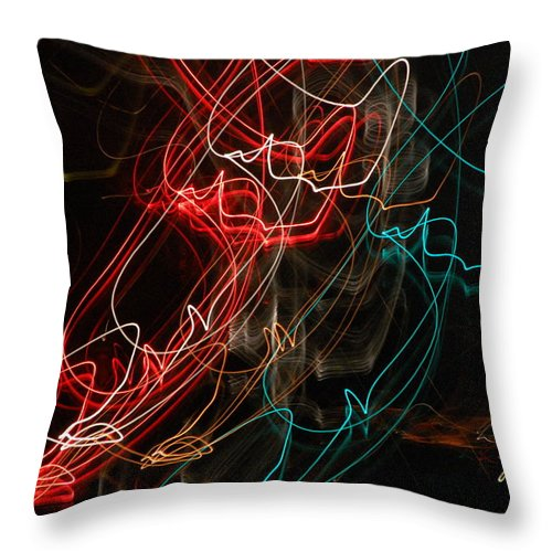 Abstract Digital Photo Throw Pillow featuring the photograph Light In Motion by David Lane